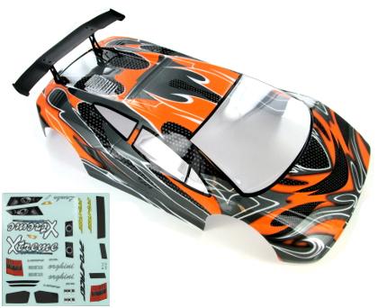 1/10 200mm Onroad Car Body Orange/Black