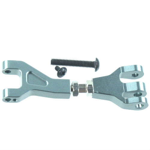Aluminum Front/Rear Upper Suspension Arm (Gunmetal),Outer Hinge Screw, Inner Pin Screw (1pc ea.)