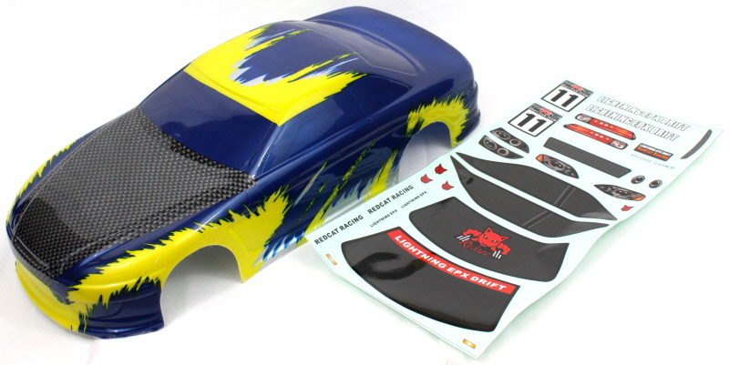 1/10 200mm Onroad Car Body Blue and Yellow