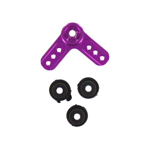 Aluminum servo arm L-shape purple